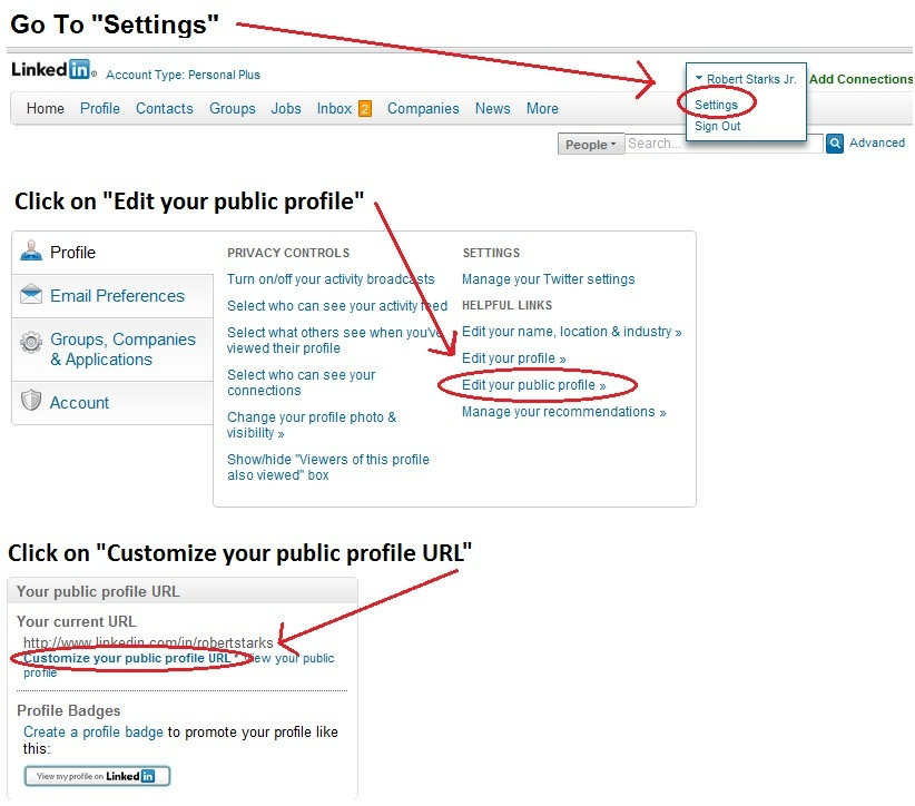customize linkedin address how to create